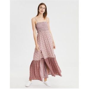 Dresses & Skirts - Long patterned dress with removable straps